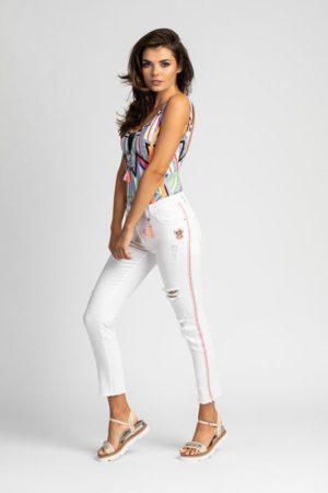 białe spodnie LEMON